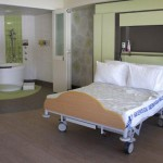 Birth suite with view of ensuite
